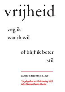 Vrijheid van Hans en Monique Hagen gedicht samenlezen nt2