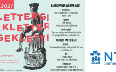 Samenlezen met Lettergek in Elsene, in het Frans en het Nederlands